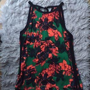 Floral sleeveless blouse